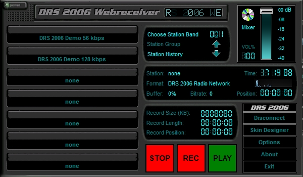DRS 2006 Webreceiver. Manage all your favorite internet radio stations. Freeware
